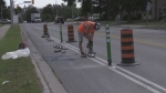 New separated bike lanes pop up in Kitchener