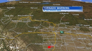 Possible tornado near Sylvan Lake downgraded to severe