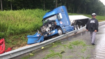 Windsor truck driver charged in collision with fire truck in