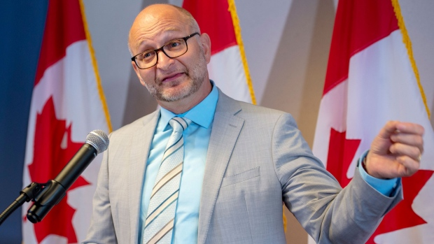Federal Justice Minister David Lametti speaks to the media at a news conference Thursday, August 1, 2019 in Montreal. Lametti announced the start of a no-cost expedited pardon for people convicted of simple possession of cannabis.THE CANADIAN PRESS/Ryan Remiorz