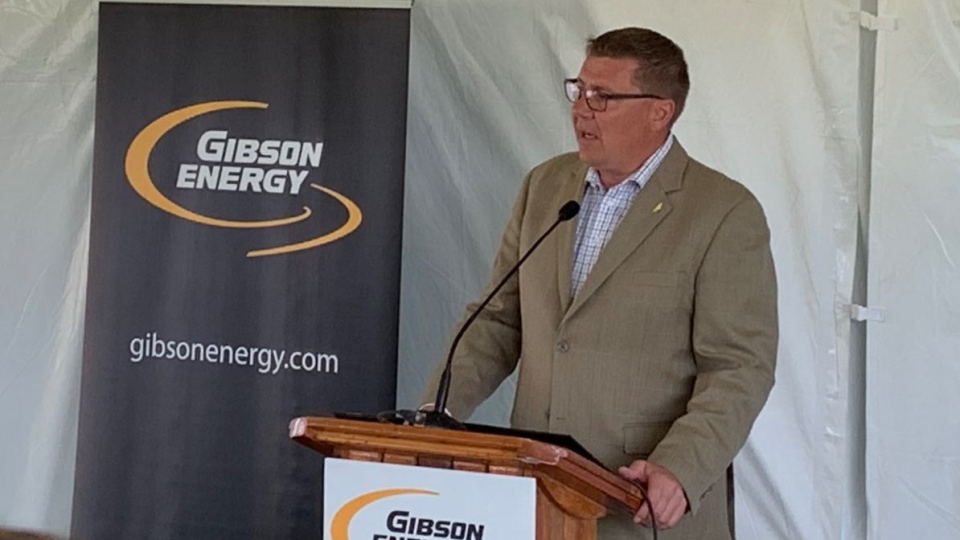 Premier Scott More pictured at the announcement of a new incentive for oil and gas companies. (Marc Smith / CTV Regina).