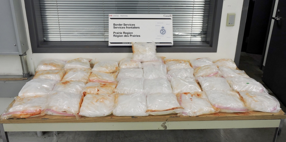 More than 50 kilograms of methamphetamine was seized at the Coutts border crossing.