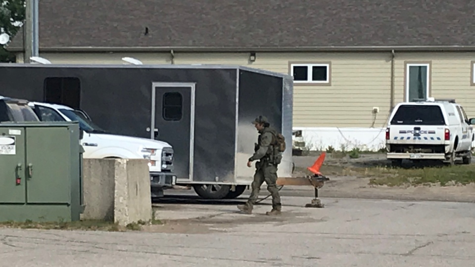 Police in Gillam on August, 1, 2019. (Source: Josh Crabb/CTV News)