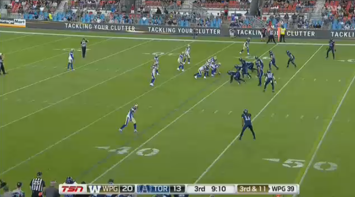 The Toronto Argonauts pulled off a 28-27 victory over the Winnipeg Blue Bombers Thursday.
