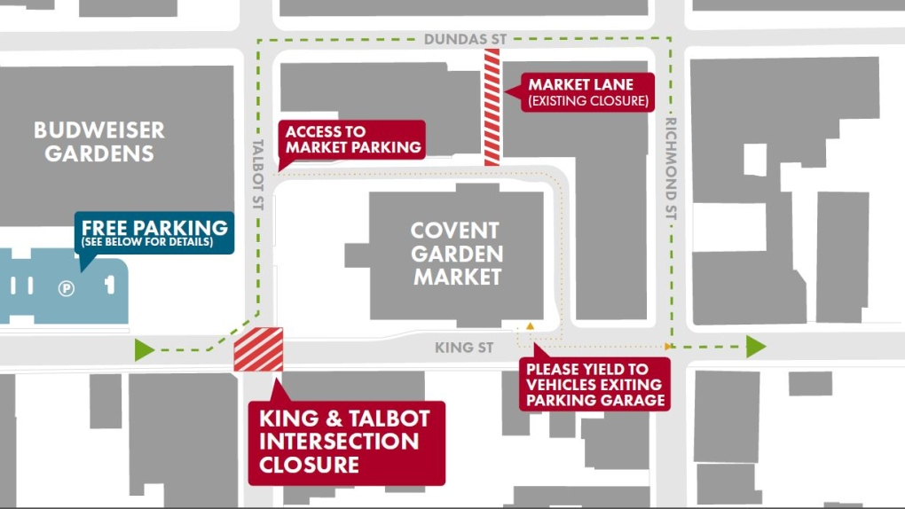 Weekend King and Talbot closures make getting around downtown a challenge