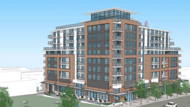 With the help of $48.5 million in funding from the federal government's National Housing Strategy, the nine-storey building planned for 188 East 6th Ave. will include 145 units, 120 of them affordable to someone earning Vancouver's median income.