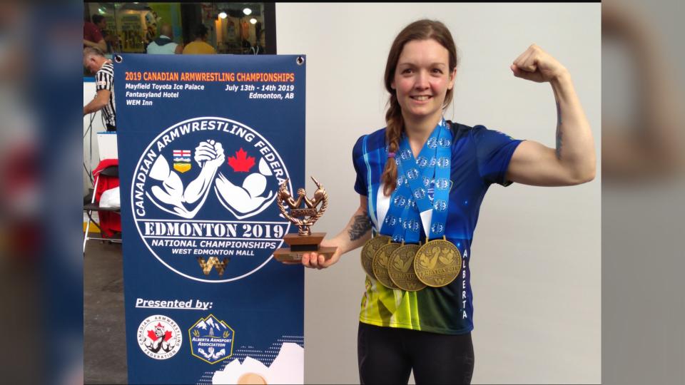 armwrestling championships Annie Beals