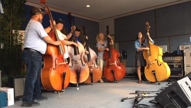 Bluegrass fans gather for a weekend of music and community