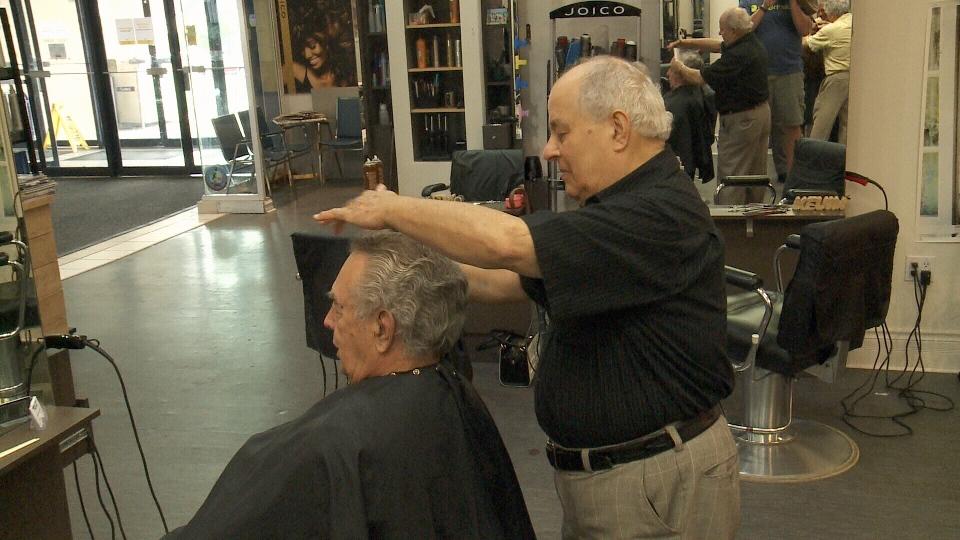 Customers inside Tweezers Hair Design