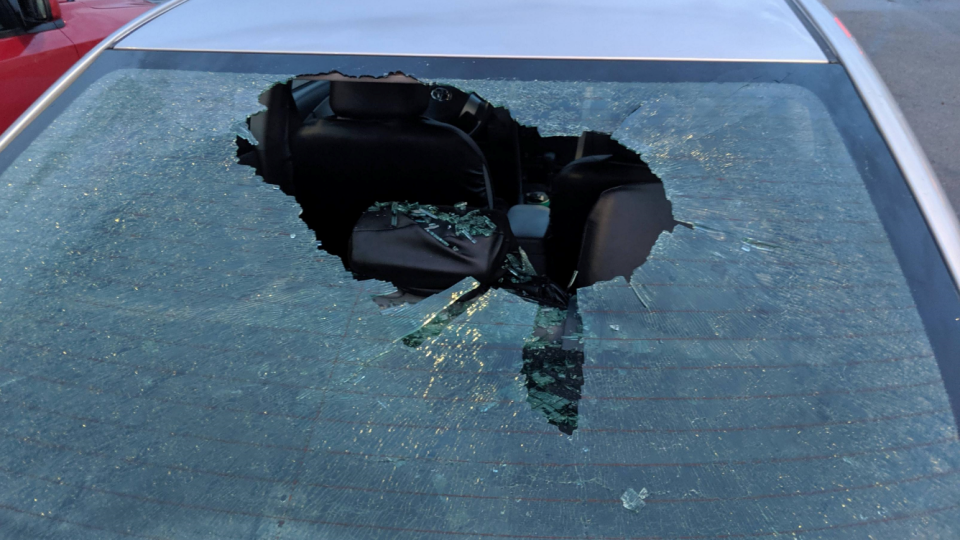 Hail Damaged Windshield