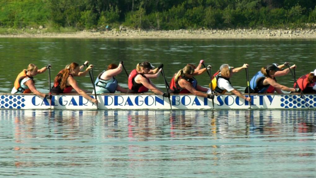 calgary dragon boat festival bow river boat