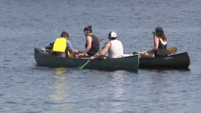 On Sunday, over 30 players and club alumni leisurely canoed from Island View to Fredericton on the St. John River – which they say helps during game time.