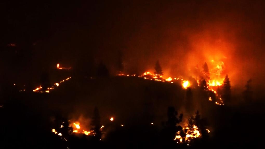 South Okanagan wildfire leads to evacuation alert