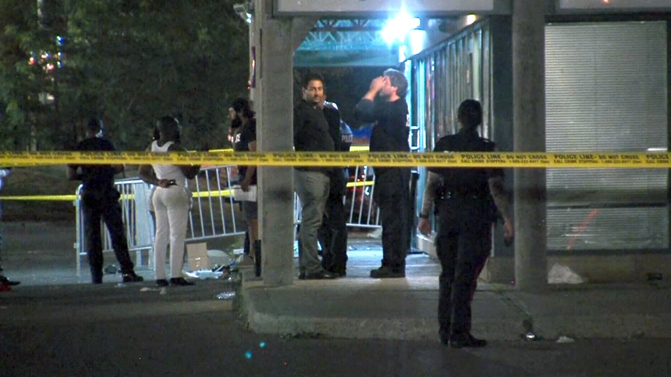 Toronto police respond to shooting at a nightclub called District 45 in the city's northwest.