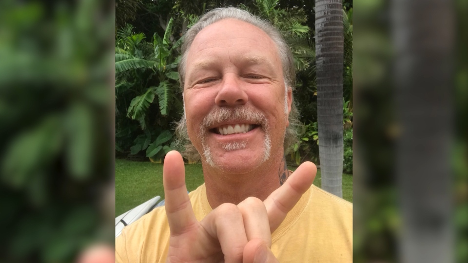 James Hetfield is seen in this photo he sent to Vancouver Island resident Denise Gallant.