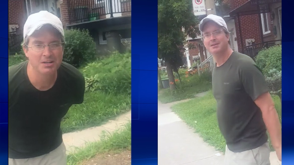 Montreal police are searching for this man who called a woman a slut as she spoke to her daughter