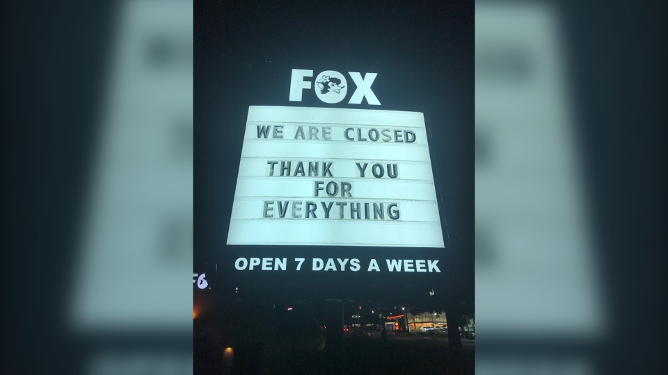 The Fox Showroom Pub announced the swift closure in a Facebook post Monday evening. (Facebook)