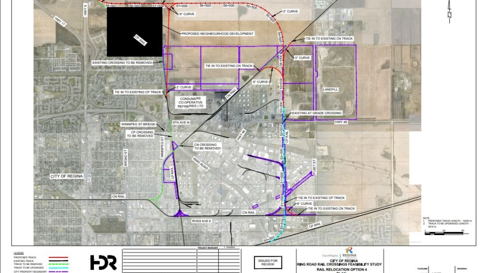 This is the city administration's recommended plan involving relocating the rail line north of Regina.
