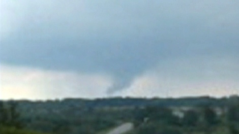 A CTV viewer spotted a funnel cloud in the Markham region on Saturday, Aug. 22, 2009.