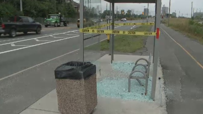 Bus Shelters damaged