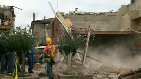 Cleanup crews spent Saturday, Aug. 22 sorting through the destruction left by a tornado that hit Vaughan earlier in the week.
