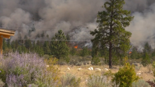 Eagle Bluff Oliver wildfire