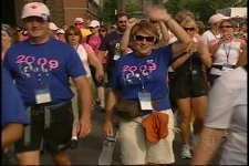 Participants walk in the fifth annual Weekend to End Women's Cancers (August 22, 2009)