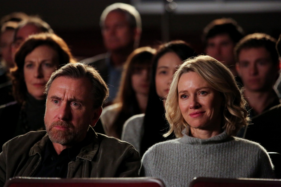 This image released by Neon shows Tim Roth, left, and Naomi Watts in a scene from