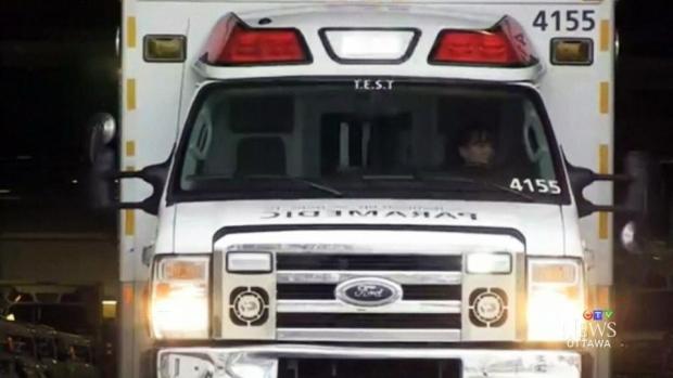 Ottawa ambulance stock photo