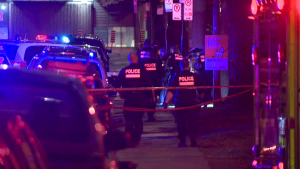 A man was shot and killed in Theodore Park early Friday morning after an apparent brawl. (CTV Montreal/ Cosmo Santamaria)