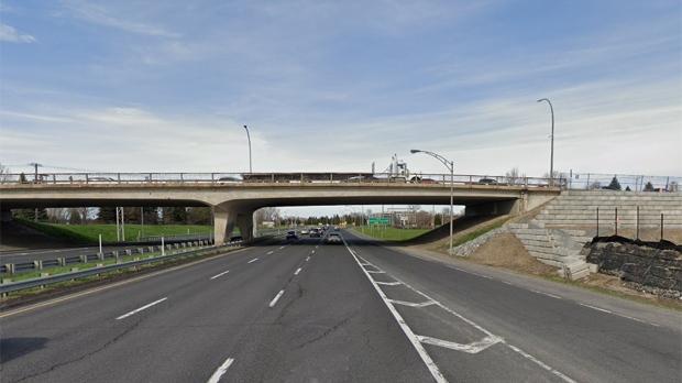 The Montarville Blvd. overpass