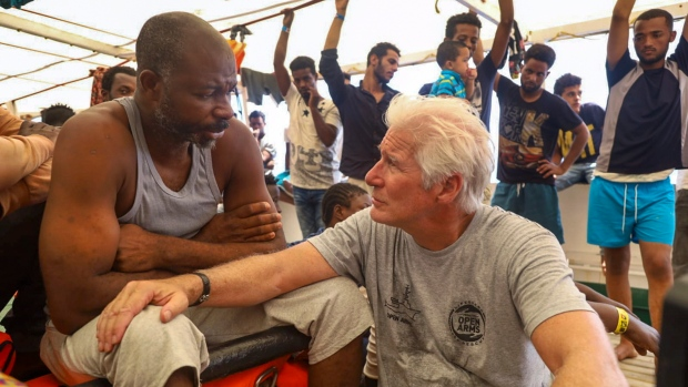Hollywood star Gere speaks out to support migrants on Spanish rescue ship