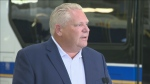 Ontario Premier Doug Ford speaks to reporters at a news conference held on Aug. 9, 2019. (CTV News Toronto)