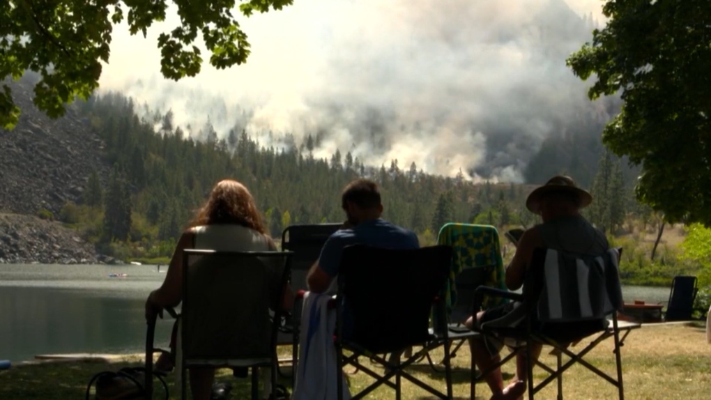 Oliver wildfire now over 2,200 hectares; night vision tech used for mapping