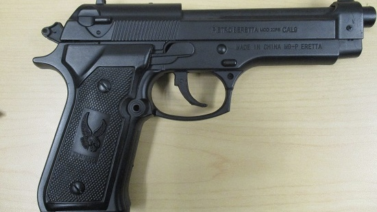 The replica handgun was seized by West Shore RCMP.