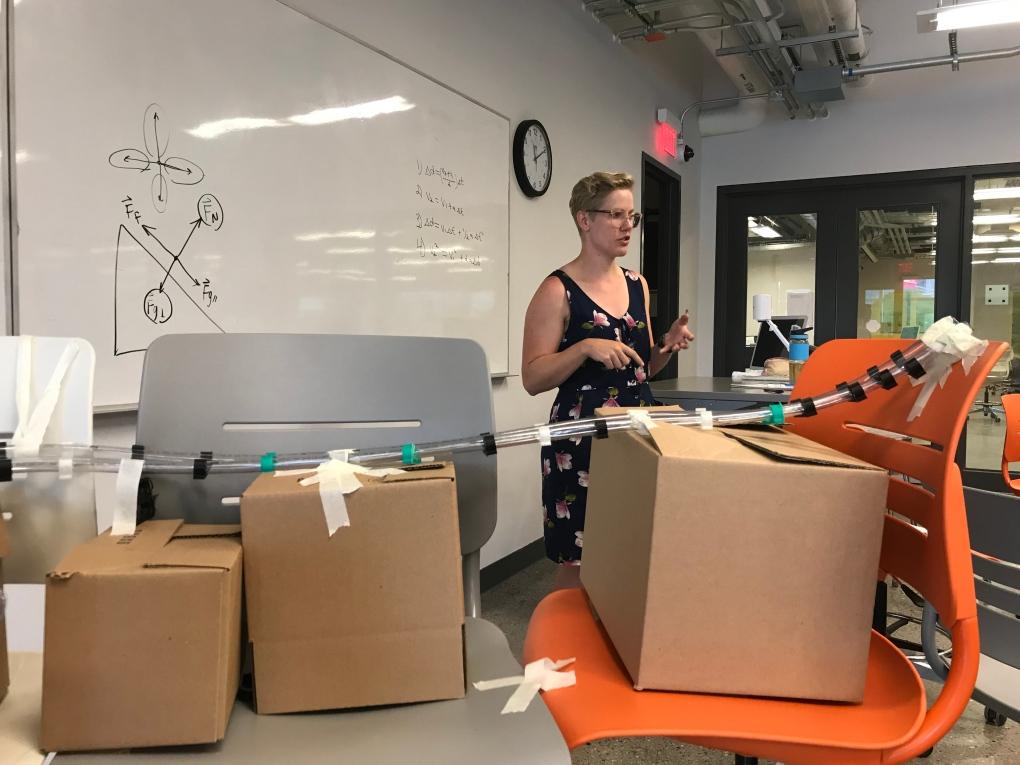 Olympic luge athlete helps U of C students slilde into engineering program