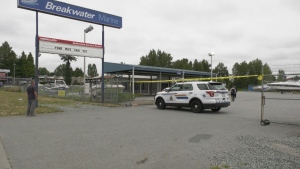 Surrey RCMP revealed Thursday that a search warrant was executed on the property, and 10-15 boats were seized. (CTV)