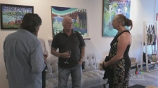 Art show for teen with autism