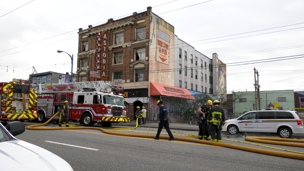 No injuries after fire in DTES hotel