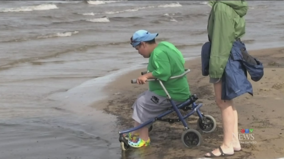 The mat is meant to make access to the water easier for those with disabilities