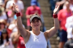 Canada's Bianca Andreescu reacts after Serena Williams of the USA had to retire from the final of the Rogers Cup tennis tournament in Toronto on Sunday, Aug. 11, 2019. THE CANADIAN PRESS/Frank Gunn