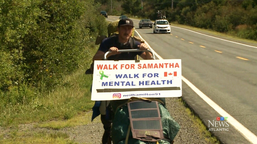 Walking for mental health awareness