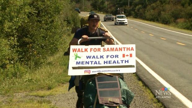 Walking for mental health awareness