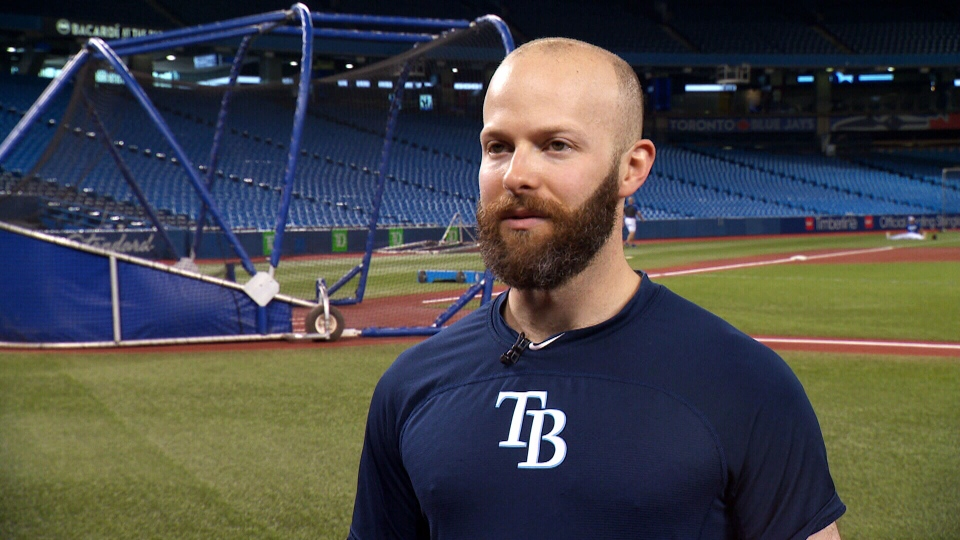 Jon Erlichman helps to coach the Tampa Bay Rays.