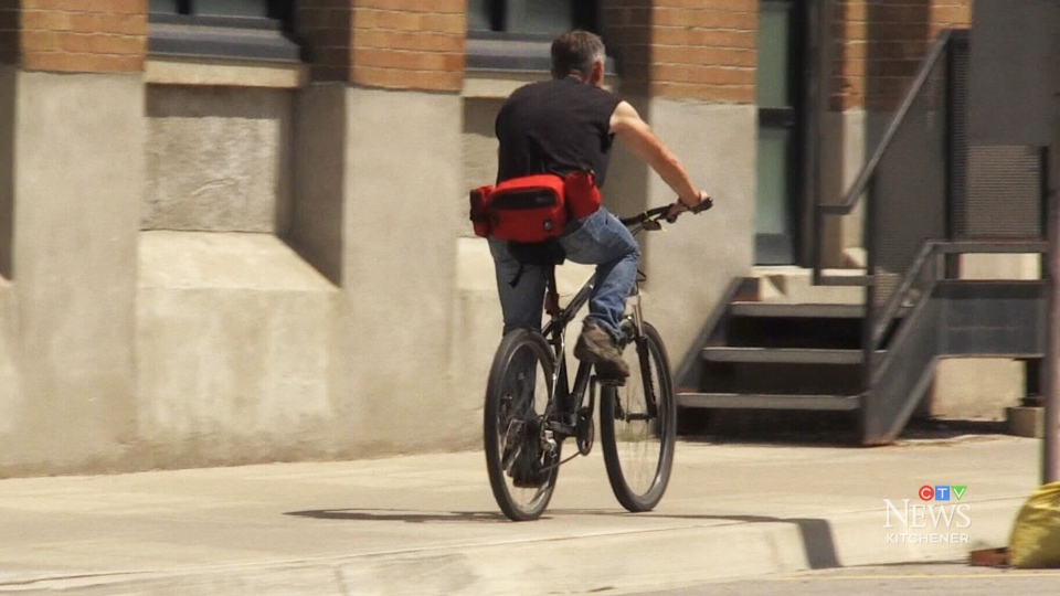 Watching out for bikes on sidewalks