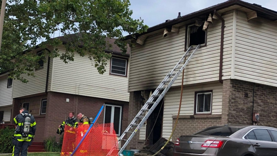 Crews were called to the fire on Copperfield Place around 2 p.m. on Sunday, Aug. 11, 2019. (Gord Bacon / AM800)