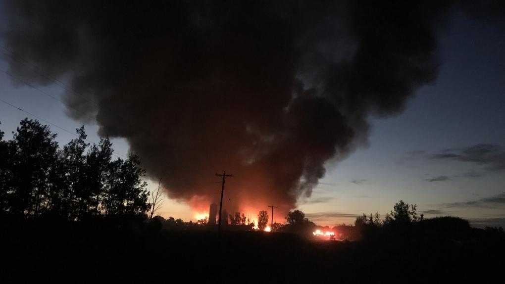 Dairy Farm Burning Manitoba