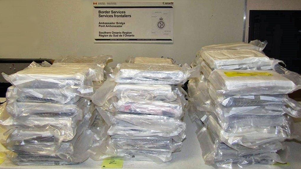 Ambassador Bridge cocaine
