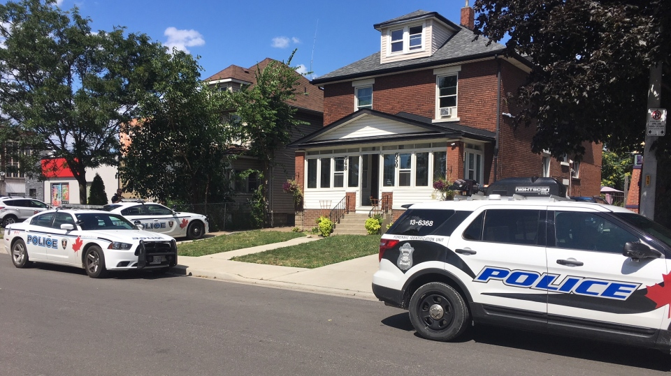 Police on scene on Moy Avenue on Friday, Aug. 9, 2019. (Chris Campbell / CTV Windsor)