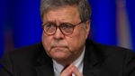 United States Attorney General William Barr, listens to LaToya Cantrell, New Orleans mayor, during the Grand Lodge Fraternal Order of Police's 64th National Biennial Conference at the Ernest N. Morial Convention Center on Convention Blvd. in New Orleans, La. Monday, Aug. 12, 2019. (David Grunfeld/The Advocate via AP)